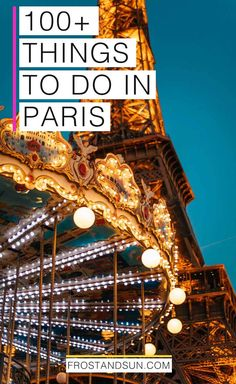 Check out my list of 100 things to do in Paris. From shopping and art to history and architecture, chances are high you'll find plenty to do. Paris France Travel, Paris Travel Guide, Europe Travel Tips, European Travel, Travel Guides, Travel Destinations, France Europe, Romantic Destinations, Travel Info
