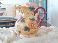 Charity Item: Floral Pitcher $20 www.GodsConsignment.com