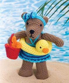 Beach Bear Rita, (free pattern)