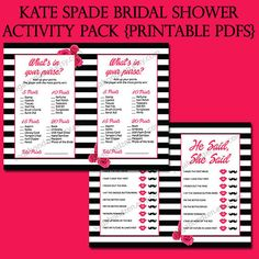 This printable bridal shower game and sign package is a great way to add some fun and games to celebrate the bride-to-be at her shower!  This listing