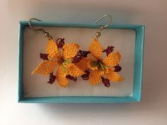 Lily Turkish Needle Lace Earring on Etsy,