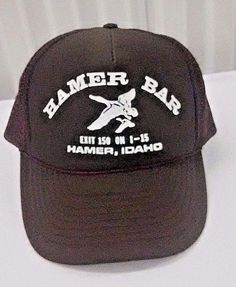 be8426d54b6 VTG Hamer Bar Idaho Mesh Snapback Trucker Hat Brown Ducks I-15 Exit 150  Hunting  Otto  Trucker