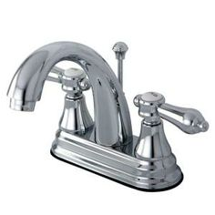 Kingston Brass 4 in. Centerset 2-Handle High Arc Bathroom Faucet in Polished Chrome-HKS7611BAL at The Home Depot