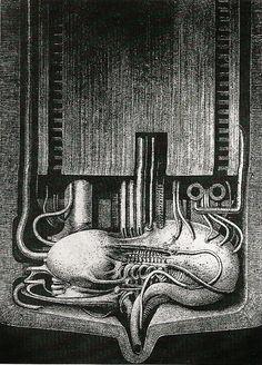 H.R. Giger, Primeros Intentos al Óleo