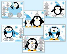 Penguin Wall Art Prints Baby Boy Zoo Arctic Animal Nursery Decor #decampstudios