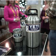 The yeti gets an upgrade with the 16,32,64oz water bottle rambler