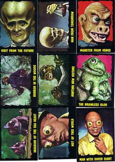 universal monster bubble gum cards - Google Search
