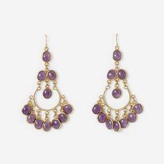 Amethyst Gypsy Earring by ISHARYA Jewelry
