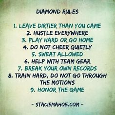 Rules of the Diamond :) |Pinned from PinTo for iPad|