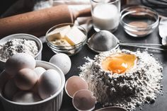 Ingredients for Homemade Baking by Viktor Hanacek on High Wallpaper, Healthy Foods To Eat, Healthy Dinner Recipes, Country Bread, Homemade Muffins, Health Breakfast, Health Snacks, Meals For Two, Baking Ingredients