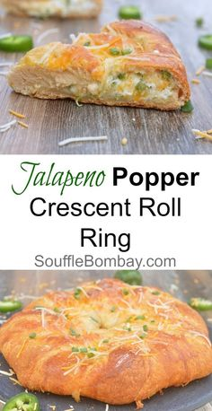 Recipe for Jalapeno Popper Crescent Roll Ring. All the goodness of Jalapeno Poppers nestled inside a ring of warm, flaky Pillsbury Crescent Polls. Crescent Roll Ring Recipes, Crescent Roll Appetizers, Stuffed Crescent Rolls, Chicken Crescent Ring, Pillsbury Crescent Recipes, Pilsbury Recipes, Jalapeno Poppers Crescent Rolls, Vegetarian Recipes, Cooking Recipes