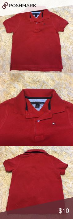 Boys Tommy Hilfiger Polo Shirt Size 5 In great condition like new. Boys Tommy Hilfiger red polo shit. Size 5 Tommy Hilfiger Shirts & Tops Polos