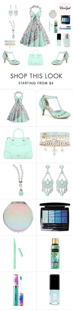 Mint Dress by siriusfunbysheila1954 on Polyvore featuring Bettie Page, Rebecca Minkoff, BillyTheTree, M&F Western, Accessorize, Christian Dior, tarte and Jin Soon