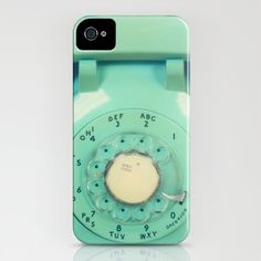 iPhone 5 case, iPhone 5, phone photo, mint, teal phone, vintage phone, case for iPhone 5, dial phone, iPhone accessory, cell phone case. $42.00, via Etsy.