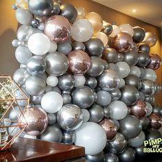 How to Create a Beautiful Balloon Arch Balloon Wall Balloon Backdrop, Balloon Garland, Balloon Decorations, Birthday Party Decorations, Wedding Decorations, Birthday Parties, Backdrop Decorations, 16th Birthday, Birthday Ideas