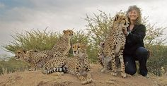 Laurie Marker and cheetahs