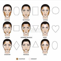 How to correctly #contour and #highlight according to your face shape ❤️ #TheTotalLook