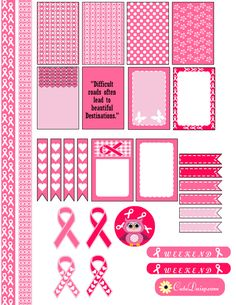As October is breast cancer awareness month, I have created these free printable breast cancer awareness planner stickers for Happy Planner and Erin Condren Planner. I am dedicating these stickers to every woman in the world. I have also created free printable Cancer themed washi tapes with these stickers so you can decorate your planners …