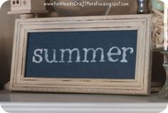 like the idea of having a little frame somewhere that can be interchanged with the seasons