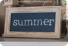 Cute Summer decor.