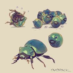 Animal Design, Animal Art, Character Design, Animal Drawings, Character Art, Creature Artwork, Creature Art, Insect Art, Monster Art