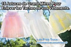 astuces grand-mère naturelles pour détacher les vêtements Cleaners Homemade, Cleaning Hacks, More Fun, Life Hacks, Household, Diy, How To Make, Marshalls, Sprays