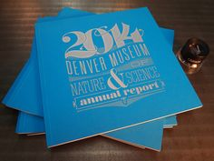 Annual report's cover / by Doug Jeremias/DMNS (design) and Genghis Kern (print)