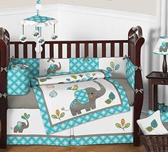 Sweet Jojo Designs Mod Elephant Baby Bedding Collection