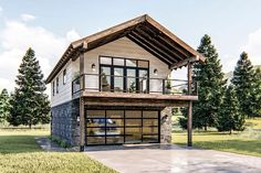 Garage Plans With Loft, Plan Garage, Narrow Lot House Plans, Two Story Garage, Garage Ideas, Garage Apartment Plans, Garage Apartments, Garage Apartment Interior, Design Garage