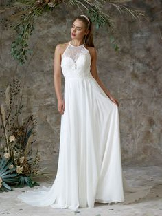 Soft chiffon skirt paired with a beautifully embroidered bodice Bridal Gowns, Wedding Gowns, Charlotte Balbier, Shes Perfect, Bridal Separates, Ethereal Beauty, Chiffon Skirt, Lace Bodice, One Shoulder Wedding Dress