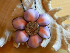 Steampunk necklace The flower's smile free by EmilySteampunk, $39.00