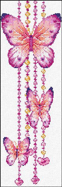 Cross Stitch | Butterflies xstitch Chart | Design