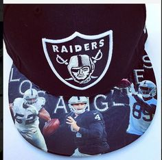 Raiders Snapback or Fitted Cap with Custom by UrbanScholarApparel