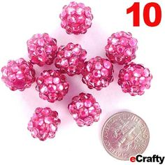 Make quick and easy IRESISTABLE lightweight fireball earrings! Sparkle Resin Rhinestone Beads 10x12mm Rose Red 10pc #ecrafty #resin #rhinestone #crafts #beads #jewelry #diyjewelry #diycrafts #fireball #pink #magenta www.eCrafty.com