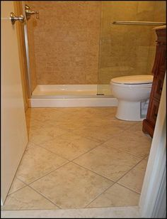 As One Of Small Bathroom Tile Floor Ideas, You Should Choose Light Colors.