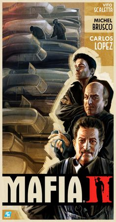 Poster from Mafia II Mafia Video Game, Mafia Game, Mafia 2, Arctic Monkeys Wallpaper, Monkey Wallpaper, Al Pacino, Stoner Art, Photo Wall Collage, Dieselpunk
