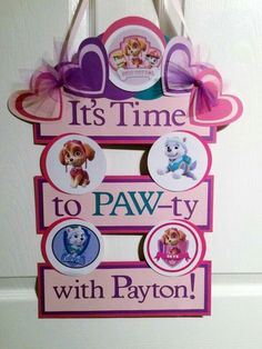 Paw Patrol Inspired Birthday Party Door Banner by FiggiDoodles Paw Patrol Birthday Girl, Paw Patrol Party, Fourth Birthday, 4th Birthday Parties, Birthday Ideas, Special Birthday, Cumple Paw Patrol, First Birthdays, Party Time