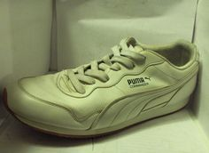 PUMA MENS WHITE LEATHER SNEAKER SIZE14MEDIUM COMMANDER MODEL RUSSELLB SHOES #PUMA #AthleticSneakers