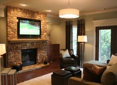 Relaxing basement for entertaining!!!!, Our goal for finishing our basement was to create a relaxing entertaining space as well as a family ...
