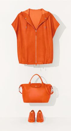 LE PLIAGE® CUIR – Discover the complete collection on www.longchamp.com <<< A magnificent color for Spring #Longchamp #Fashion