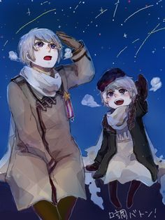 Russia and his adorable chibi self! (BTW, this is your HERO, America! I am using France's Pintrest to show off my awesome boyfriend, Russia! I love you Russia!~ - The HERO, America!)