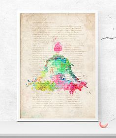 Yoga book PRINTABLE version -A3 International size, printable poster - - you can print any popular size 8x10 or 11x14 for example  Printed version -