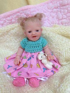 "OOAK Prosculpt polymer clay baby girl sculpt not toy art doll 6"" 5 DAYS LOOK!!"