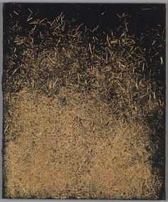Untitled  Artist: Marcos Grigorian (Armenian-Iranian, Kropotkin, Russia 1925–2007 Yerevan, Armenia) Object Name: Painting Date: 1970s  Iran  Medium: Straw on mixed-media compound on canvas Dimensions: Framed: H. 26 3/4 in. (67.9 cm) W. 22 1/2 in. (57.2 cm) D. 3 in. (7.6 cm)