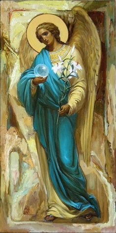 Angel in turquoise Raphael Angel, I Believe In Angels, Ange Demon, Byzantine Icons, Angels Among Us, Archangel Michael, Mystique, Guardian Angels, Orthodox Icons