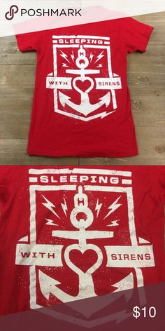 Sleeping With Sirens Band Tee Red anchor Sleeping With Sirens fitted band tee Hot Topic Tops Tees - Short Sleeve