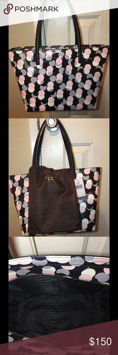 """Kate Spade Gallery Drive Small Harmony Tote Crosshatched leather, 14 karat gold hardware, 9.9"""" H 11.9""""W 9"""" drop length kate spade Bags Totes"""