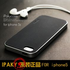 For iphone 5 5S/SE case,Ipaky Brand PC Frame + Silicone back cover cellphone case for iphone 5s/iphone se