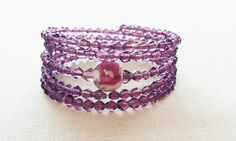 Q is for Quickstop----purple and silver --here and there by Charlene on Etsy
