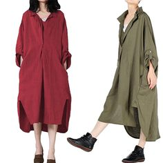 Gracila Casual Pure Color Irregular Lapel Long Sleeve Women Dresses is comfortable, see other cheap casual dress on NewChic. Duster Coat, Casual Dresses, Pure Products, Long Sleeve, Sleeves, Jackets, Color, Women, Fashion